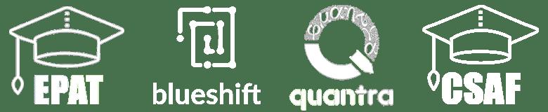 EPAT, Quantra, BlueShift logo